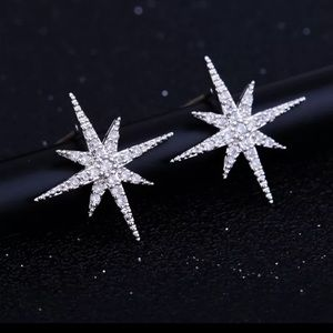Jewelry - NEW! Silver Star Cubic Zirconia Stud Earrings